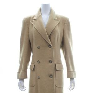 BROOKS BROTHERS CAMEL HAIR LONG COAT SIZE 8